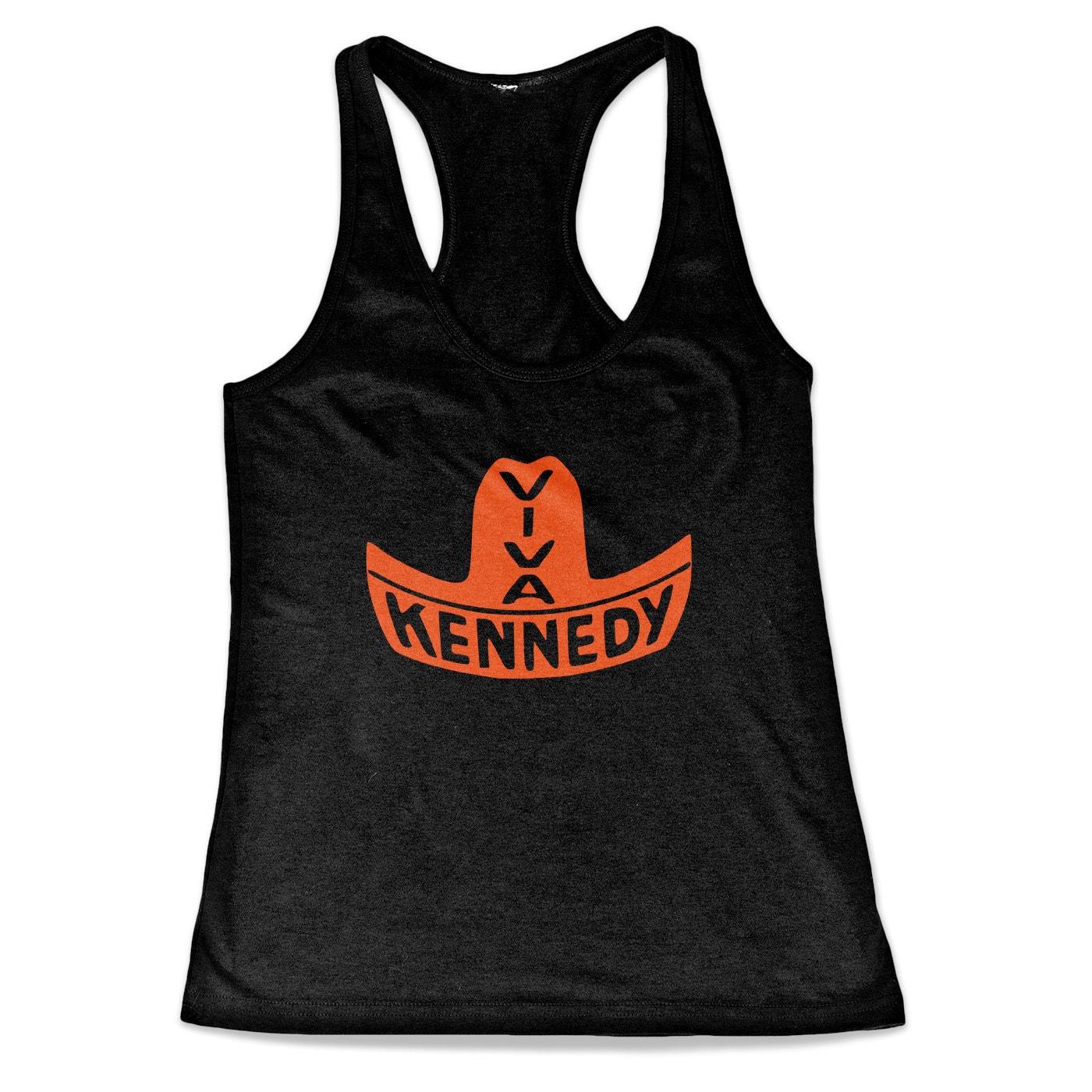 Viva Kennedy - John F. Kennedy Political Campaign Button Tri-Blend Racerback Tank Top