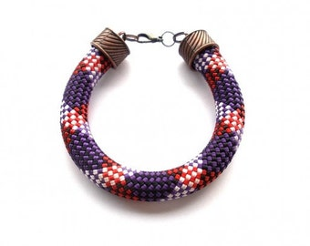 Rope Bracelet-Purple