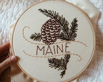 "Maine - White Pine 9"" Hoop"