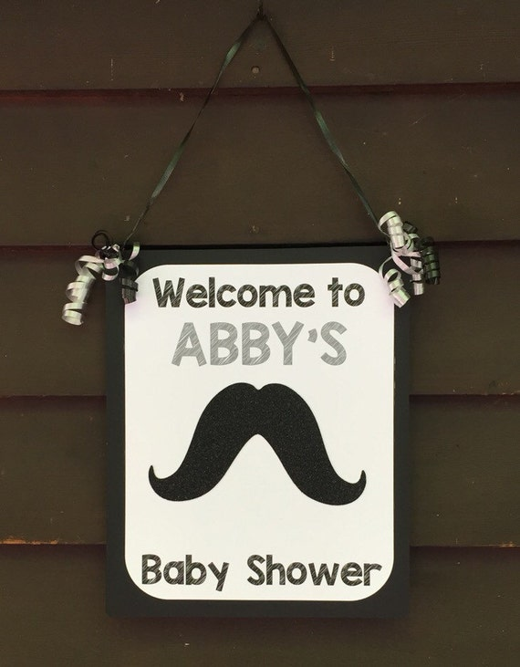 Il_570xn & Personalized Mustache Baby Shower Welcome Sign Mustache Door Sign ...