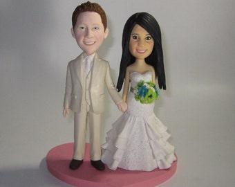 CUSTOM cake topper, Wedding Cake Topper , Cartoon cake topper, wedding topper, wedding toppers, cake toppers wedding, laptop cake topper