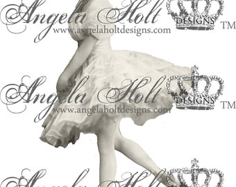 Altered Vintage Ballerina 2 Photo Ready for Printing