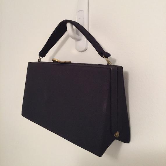 1940s-50s Navy Blue Purse  Vintage Handbag  Rockabilly Handbag