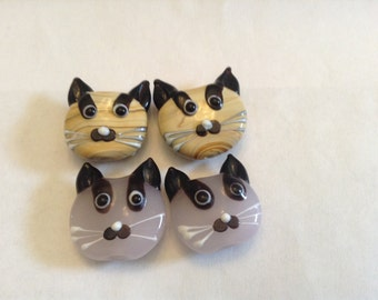 lampwork kitty cats