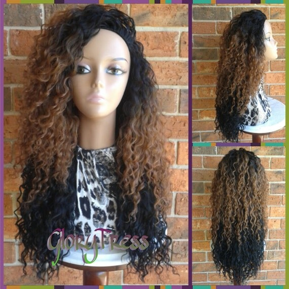 Ombre Human Hair Half Wigs 22