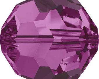 Swarovski Crystal Round Beads 5000 - 3mm 4mm 5mm 6mm 8mm 10mm - Fuschia