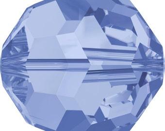 Swarovski Crystal Round Beads 5000 - 3mm 4mm 5mm 6mm 7mm 8mm 10mm - Light Sapphire