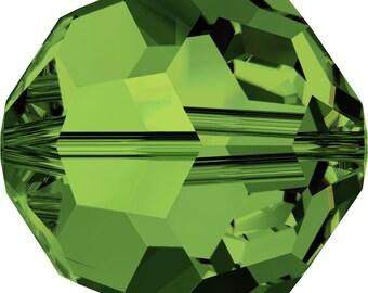 Swarovski Crystal Round Beads 5000 - 3mm 4mm 6mm 8mm 10mm - Drak Moss Green