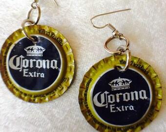 CORONA Extra Beer Cap Earrings