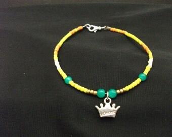 Princess Daisy (Mario) inspired Handmade Beaded Bracelet