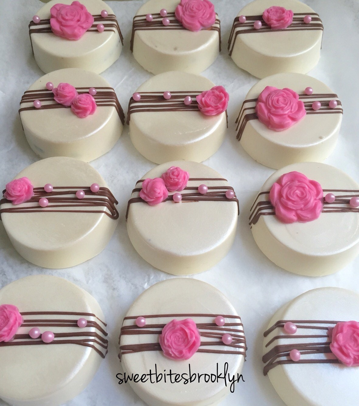 Flowers Chocolate Covered Oreos Birthday Party Favor Wedding
