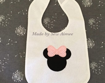 embroidered Minnie Mouse bib