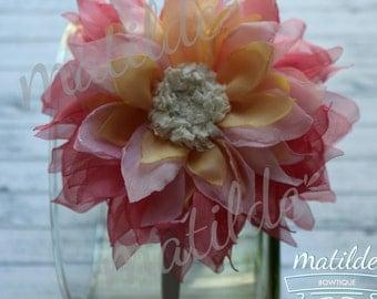 Flower hair clip, Flower hair accesories, clip, headband, diadem