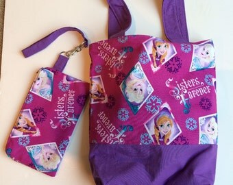 Disney Frozen Princess Handbag with matching wristlet