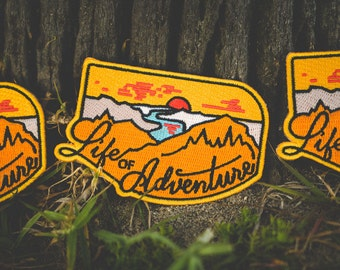 Life of Adventure Embroidered Patch