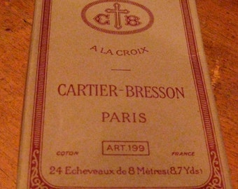 Cartier-Bresson Vintage Old Factory Stock, Embroidery Floss, Blanc Neige-Snow White, Paris, 24 Pieces