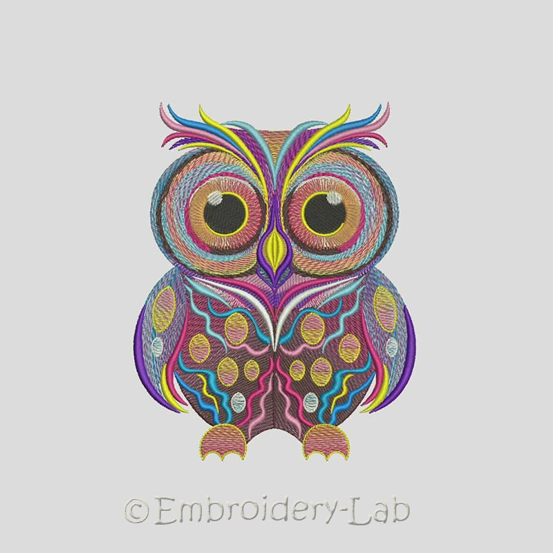 Owl 0002 Machine Embroidery Design