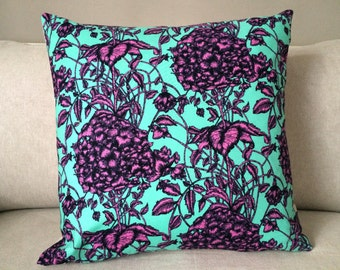 Large Fuschia Flower Pillow Cover
