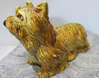 "Glazed Italian Terracotta Llasa-Apso Dog ""Signed"""