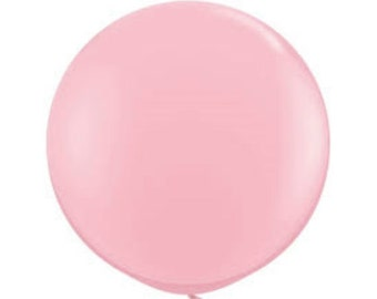 1- Round Pink 30 inch Balloon- Colorful and great quality. Helium Quality
