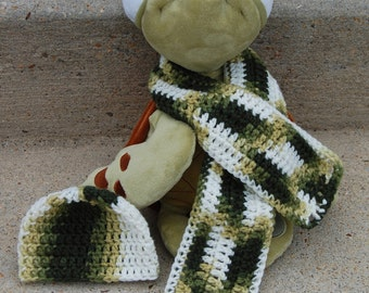 Camouflage Hat and Scarf Set (Baby)