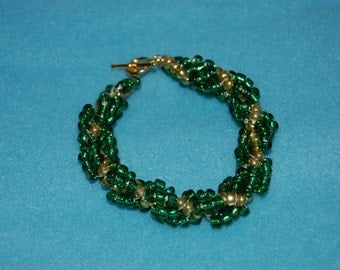 Spiral Rope Chain Seed Bead Bracelet