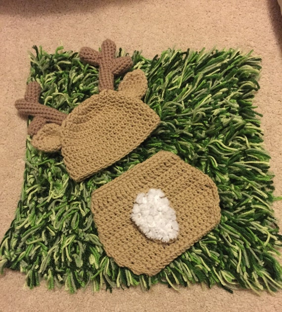 Free Crochet Deer Diaper Cover Pattern : Crochet baby deer outfit hat & diaper cover baby boy hats