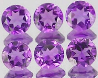 100-P Wholesale Lot Of  purple Amethyst 1.5X1.5 MM Round Cut Faceted Calibrated Loose Gemstone