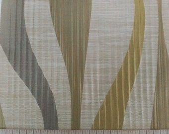 Abstract Stripe Pattern Fabric in Olive Green / Gray