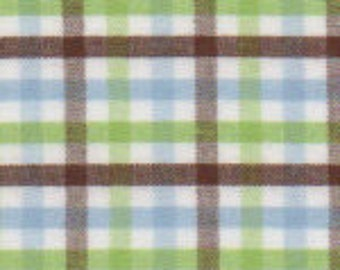 Brown Blue and Green Gingham