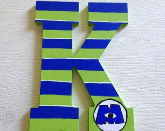 Custom Monsters Inc Hand painted letters decoration custom wall letters wall decor