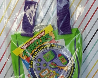 Vintage 1993 Burger King Teenage Mutant Ninja Turtles Sealed Bike Pouch