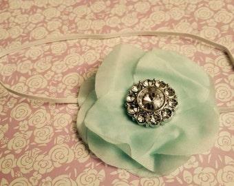 Mint & Brooch Baby Headband