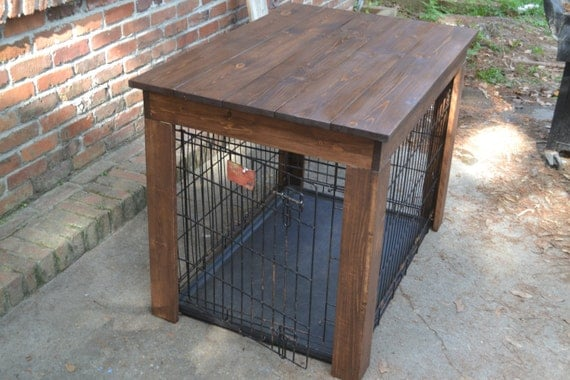 ... Furniture, Wood Dog Crate Cover, Dog Kennel Cover, Dog Crate End Table