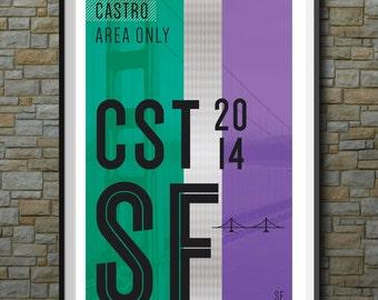 SF Muni Poster: Castro