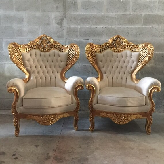 Antique Italian Rococo Chair Fauteuil Bergere Louis XVI