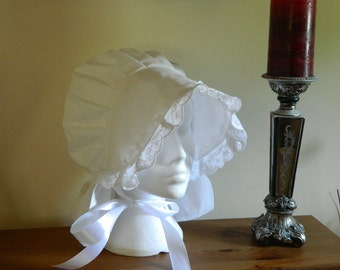 Ladies victorian,edwardian, regency, prairie style, coif hat, bonnet