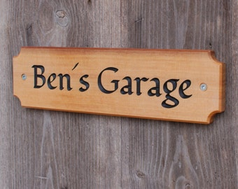 Garage sign, rustic sign, home sign, door sign, outdoor sign, vintage sign, cottage sign, pub sign, man cave sign, lodge sign, cabin sign