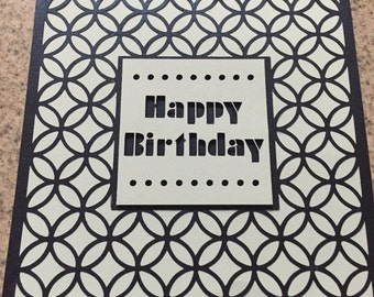 Cut out birthday card