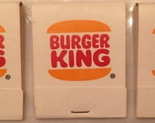 Lot of 3 Vintage Burger King Matchbooks Unstruck Unused 20 matches per Book