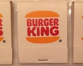 Lot of 3 Vintage Burger King Matchbooks Unstruck Unused 20 matches per Book