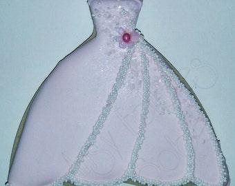 Bridal shower - Wedding dress Sugar Cookies