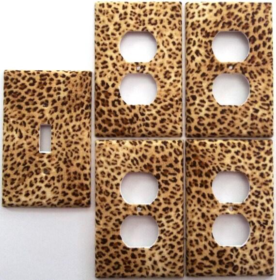 Leopard Big Cat Animal Print Girls Light By Chriscraftiedecor