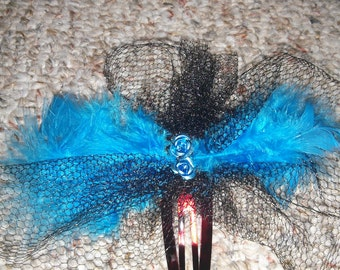 Lace and Feather hair clips