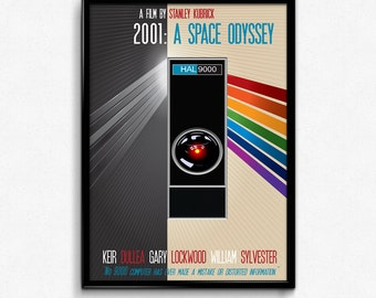 2001 A Space Odyssey Poster Print - No 9000 Computer Has Ever Made A Mistake - Multiple Sizes - 8x10 up to 24x36 - Alternate Movie Poster