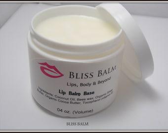 4 oz Organic Lip Balm Base,  Unsweetened, All Natural, Make your own Lip Balm, Supplies, DIY,  Lotion bar base, Perfume Base  Bliss Balm