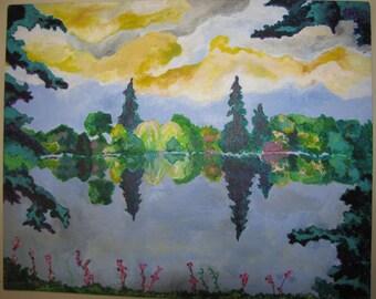 Reflection, Acrylic Painting