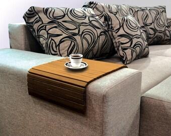 Sofa tablett etsy for Sofa tablett
