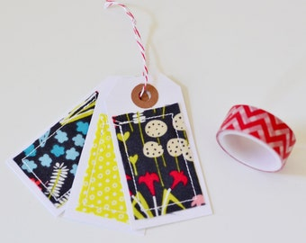 Fabric Embellished Tags