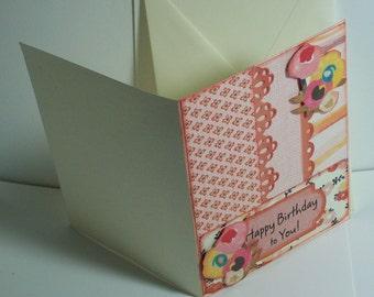Handmade one of a kind birthday card